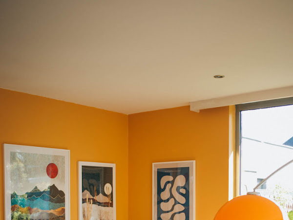 Yellow living room and gallery wall update