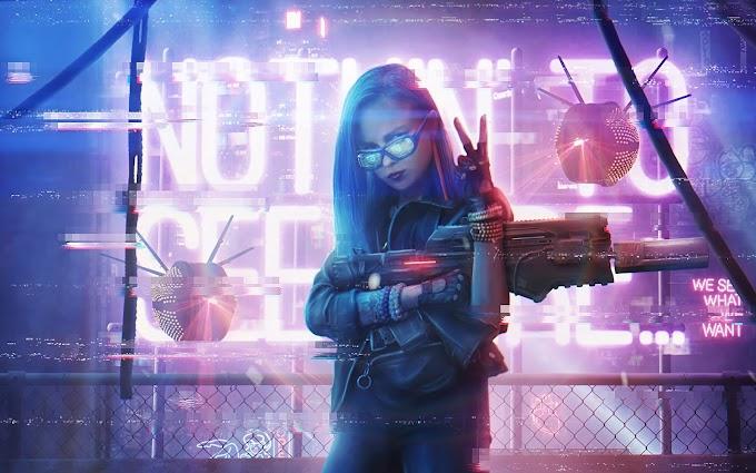 Sci-Fi Garota Cyberpunk