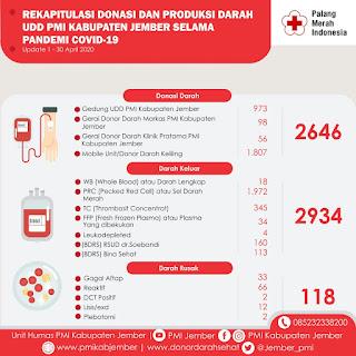 Donasi dan Produksi Darah PMI Jember Selama Pandemi Covid-19