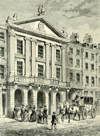 Front of Old Drury Lane Theatre from Old and New London (1873)