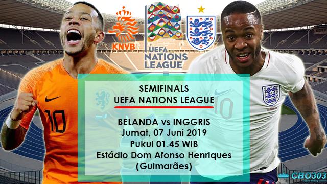 Prediksi Semifinal UEFA Nations League Belanda vs Inggris (07 Juni 2019)