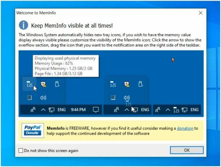 MemInfo : Δείτε και διαχειριστείτε την τρέχουσα  μνήμη του υπολογιστή σας σε πραγματικό χρόνο