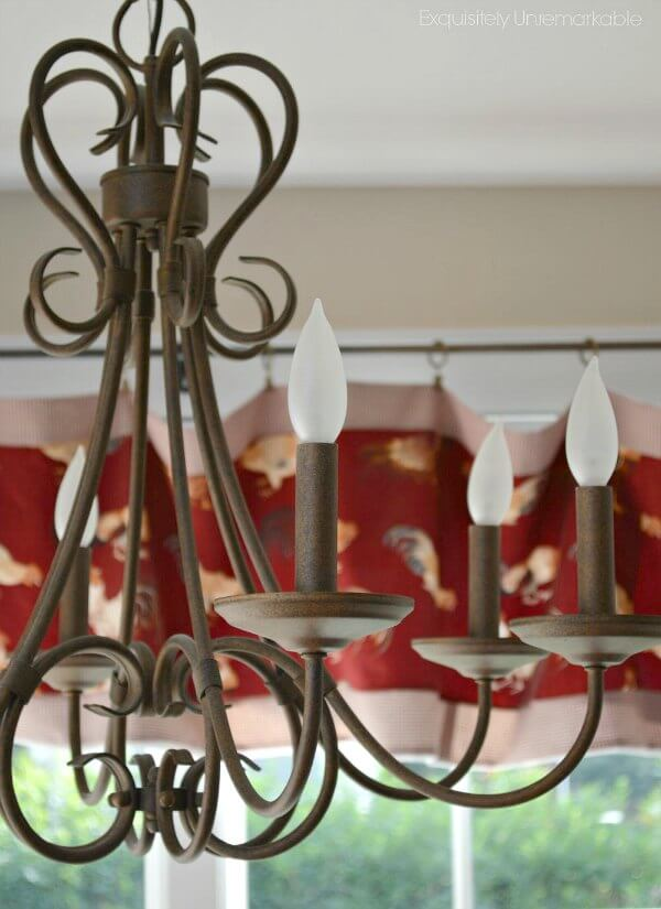 Kitchen Chandelier in antique brown