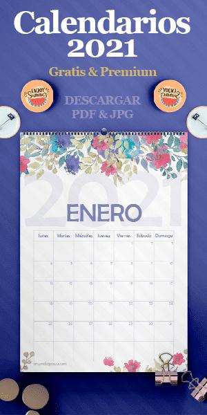Calendarios 2021 para Imprimir