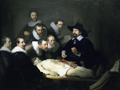 lekcja anatomii rembrandt