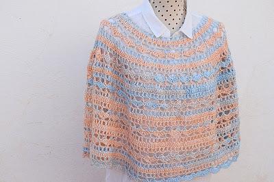 6 - Crochet Imagen Capa o poncho a crochet y ganchillo muy fácil y sencillo por Majovel Crochet