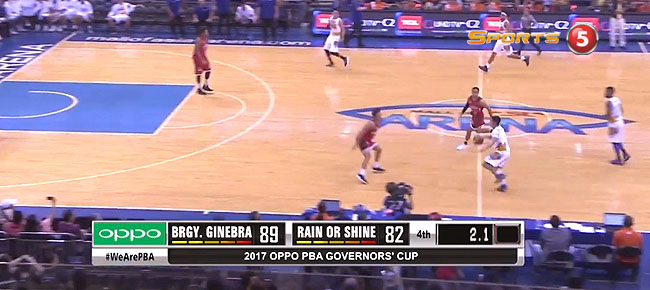 Ginebra def. Rain or Shine, 89-82 (REPLAY VIDEO) September 16