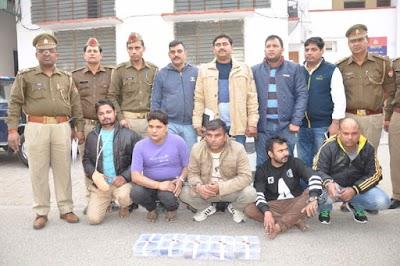 मेरठ: 15 हजार का इनामी बदमाश अपने गुर्गों के साथ गिरफ्तार