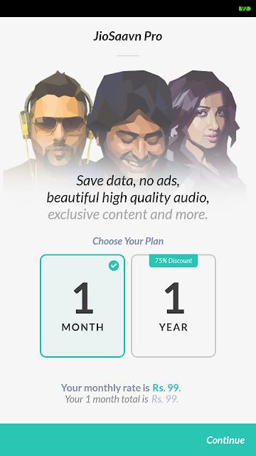 JioSaavan Pro Unlimited Subscription Free