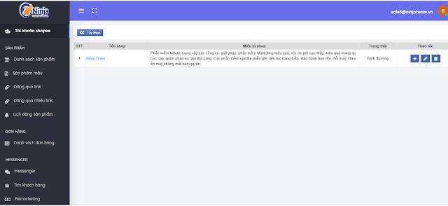 Ninja Shoppe – Phần mềm quản lý chăm sóc shop chuyên nghiệp