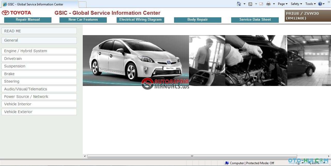 free auto repair manual : gsic toyota prius zvw30 2009