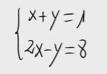 7 Sistema lineal de dos ecuaciones y dos incognitas. (Igualación)