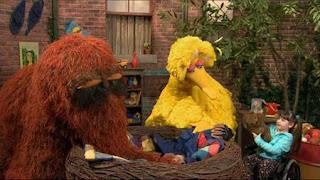 Big Bird, Snuffy, Radar, Kaitlyn, Sesame Street Episode 4413 Big Bird's Nest Sale season 44