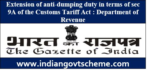 Extension of anti-dumping duty