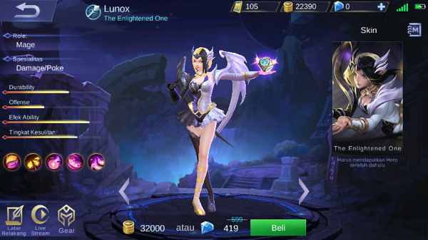 review lunox mobile legend