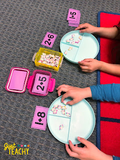 Teaching addition with number bond plates