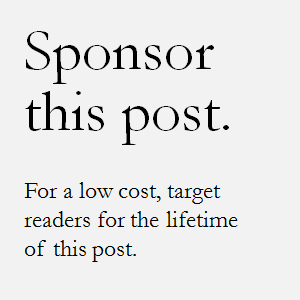 Sponsor this Post