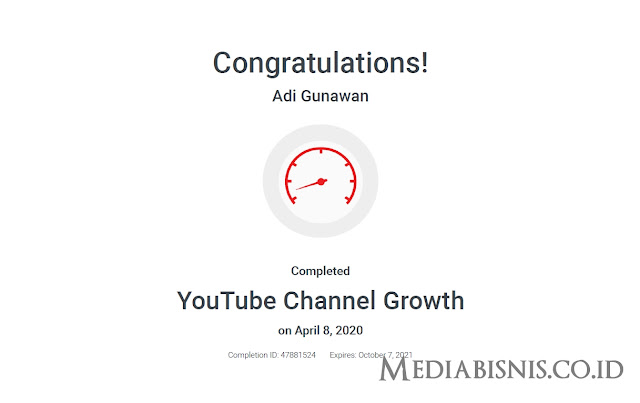Jawaban Sertifikasi YouTube Channel Growth