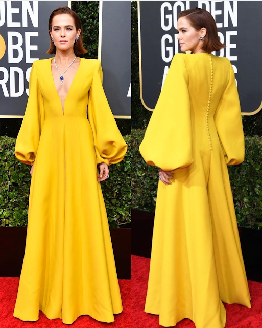 Zoey Deuch Wearing Fendi Dress at Golden Globe Awards 2020