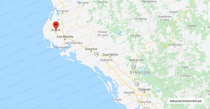 Temblor en México de Magnitud 4.1 (Hoy Viernes 24 Julio 2020) Sismo - Epicentro - Ahome - Sinaloa - SIN. - SSN - www.ssn.unam.mx