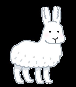 ホッキョクウサギのイラスト(立っている)