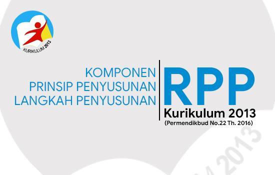 Komponen, Prinsip dan Langkah-Langkah Penyusunan RPP Kurikulum 2013