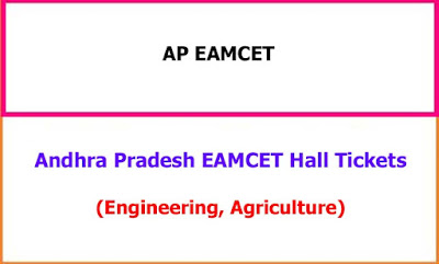 AP EAMCET 2020 Hall Tickets
