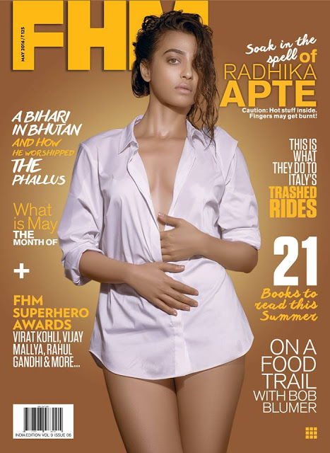 Radhika Apte on the cover of FHM India May 2016