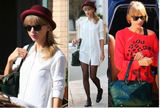 Taylor was spotted heading to a dance studio Los Angeles, CA on Sept 29, 2013 wearing Ray-Ban \u0026#39;Original Wayfarer\u0026#39; - $150.00