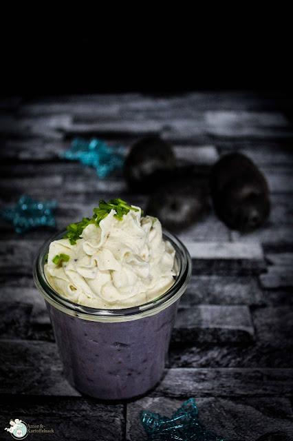 blaues Kartoffelpüree