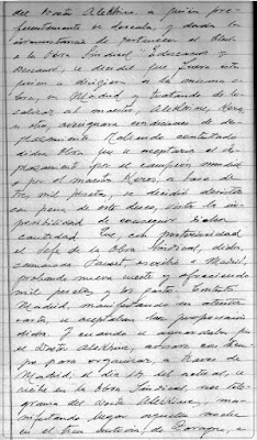 Fragmento nº 4 del Acta del Club de Ajedrez Lérida de 19 de febrero de 1944