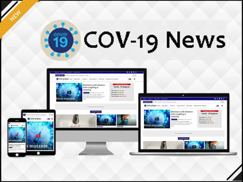 Cov-19 News - Health & Advanced Blogger Template