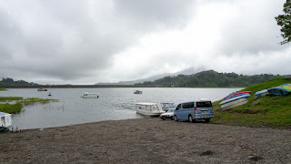 Cloudy weather on Lake Arenal