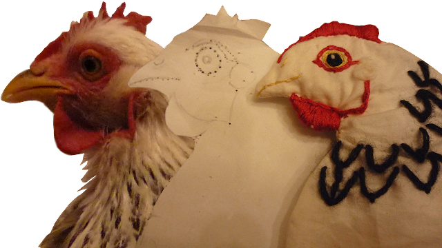 Create Chicken-shaped heat pad - organic
