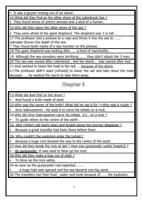 مراجعة قصة اللغة الانجليزية للصف الثالث الاعدادى الترم الثانى فى 3 ورقات 3_002