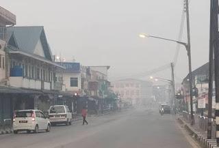 Jerebu semakin parah di Sarawak