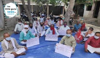 बाढ़ पीड़ितों के लिए सीपीआई ने किया एक दिवसीय धरना प्रदर्शन