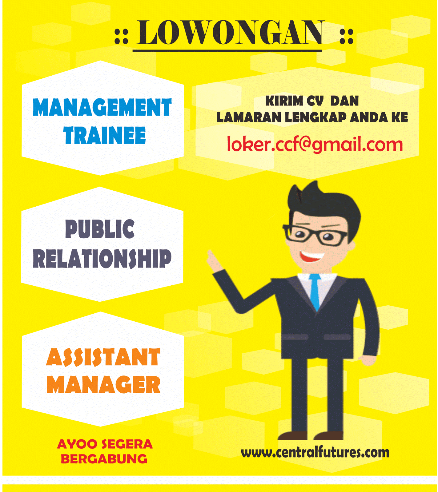 walk in interview di pt central capital yogyakarta management lowongan kerja di pt asiadaya abadi kudus s representative accounting hrd legal sekretaris area officer