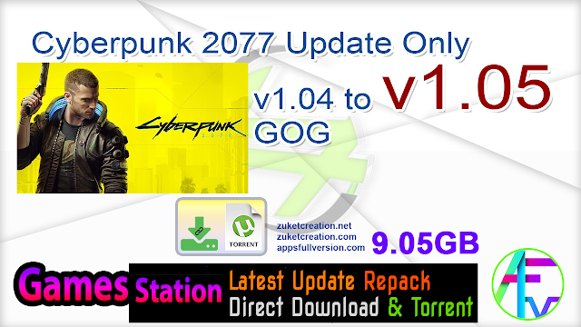 Cyberpunk 2077 Update Only v1.04 to v1.05 GOG