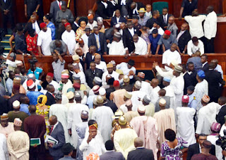 House of Representatives in rowdy session