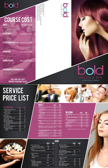 brosur salon kecantikan beauty kapster layanan treatment promosi voucher diskon memuaskan therapist pijat massage