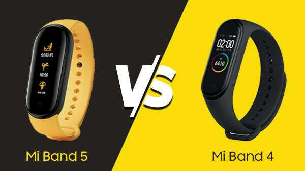الفرق بين ساعة شاومي باند 5 و شاومي باند 4:  xaomi mi band 5 vs mi band 4