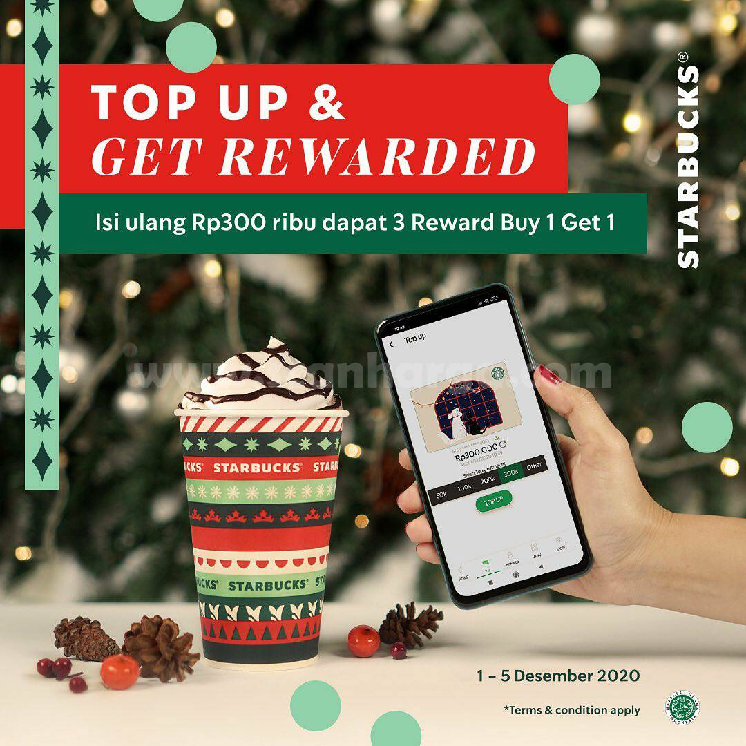 STARBUCKS Promo TOP UP and Let's GET REWARDED