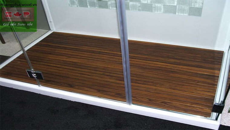 Sàn gỗ Teak trong phòng tắm