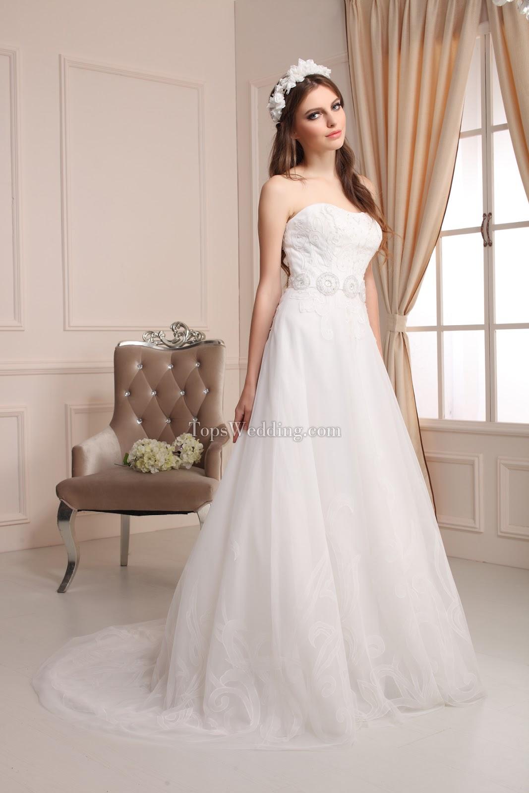 Empire waist wedding dresses, topwedding.com