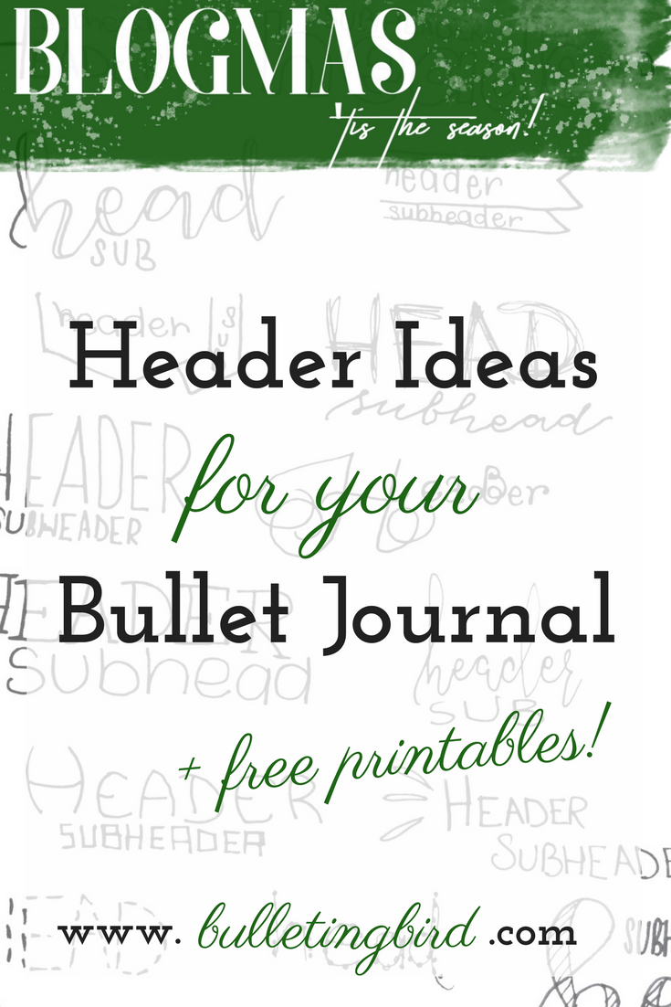Header Ideas For Your Bullet Journal