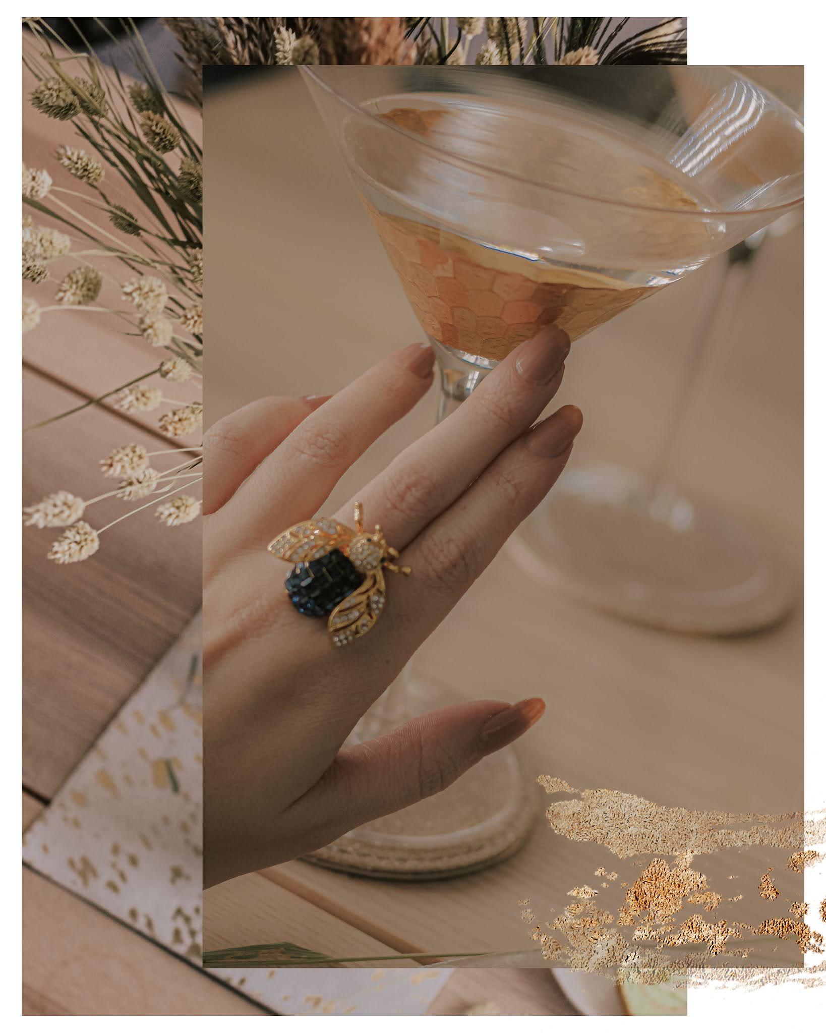 Joanna Buchanan Gold Sparkle Bee Ring