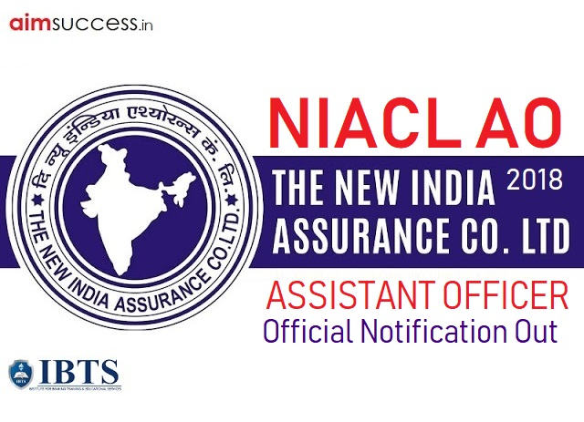 NIACL AO Recruitment 2018 Official Notification Out (Check Here)