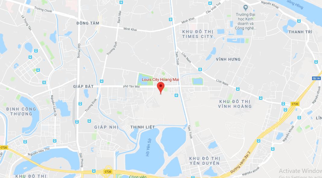 Vị trí dự án Louis City Hoàng Mai