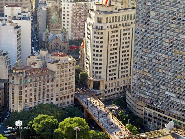 Cityscape do Centro com Panorâmica do Viaduto Santa Efigênia - São Paulo